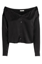 Off-the-shoulder blouse - Black - Ladies | H&M 2